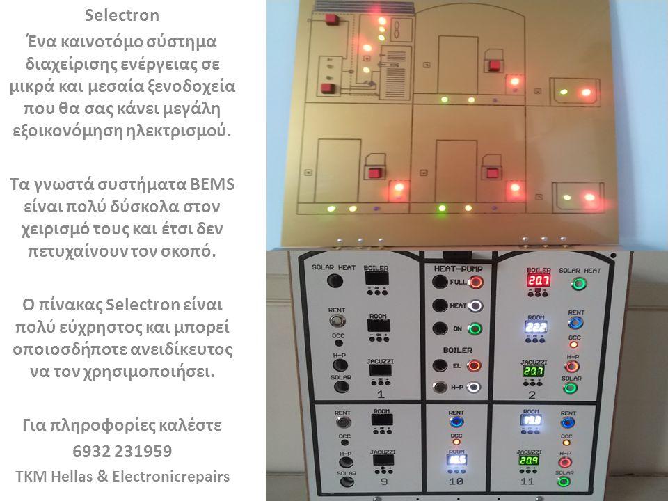 Selectron Ένα καινοτόμο σύστημα διαχείρισης ενέργειας σε μικρά και μεσαία ξενοδοχεία που θα σας κάνει μεγάλη εξοικονόμηση ηλεκτρισμού.