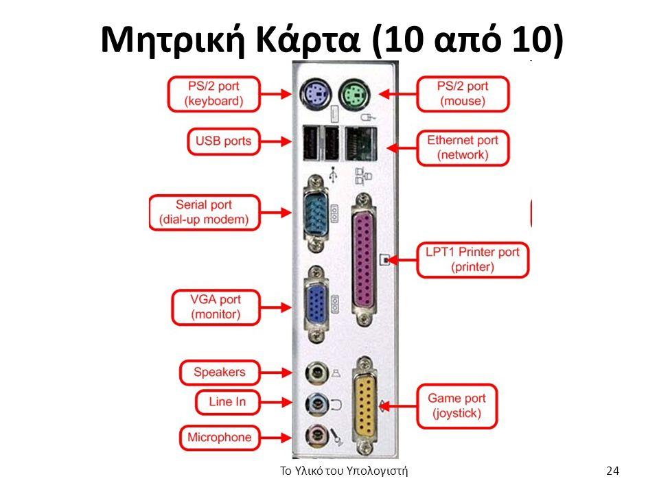 Μητρική Κάρτα (10 από 10) Το Υλικό του Υπολογιστή 24