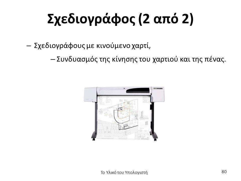 Σχεδιογράφος (2 από 2) – Σχεδιογράφους με κινούμενο χαρτί, – Συνδυασμός της κίνησης του χαρτιού και της πένας.