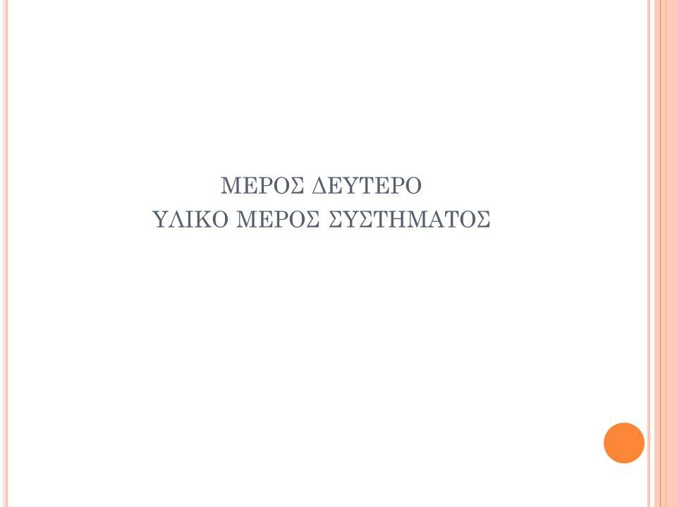 ΜΕΡΟΣ ΔΕΥΤΕΡΟ ΥΛΙΚΟ ΜΕΡΟΣ ΣΥΣΤΗΜΑΤΟΣ