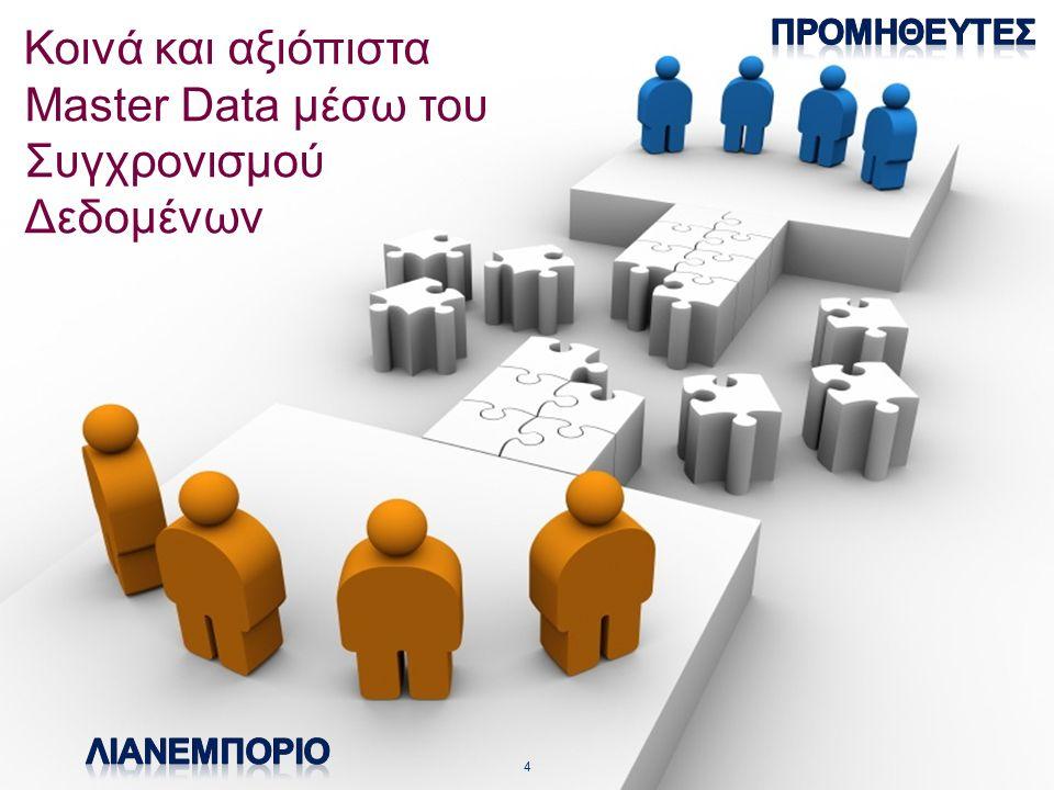 © 2013 GS1 Association - Greece Κοινά και αξιόπιστα Master Data μέσω του Συγχρονισμού Δεδομένων 4