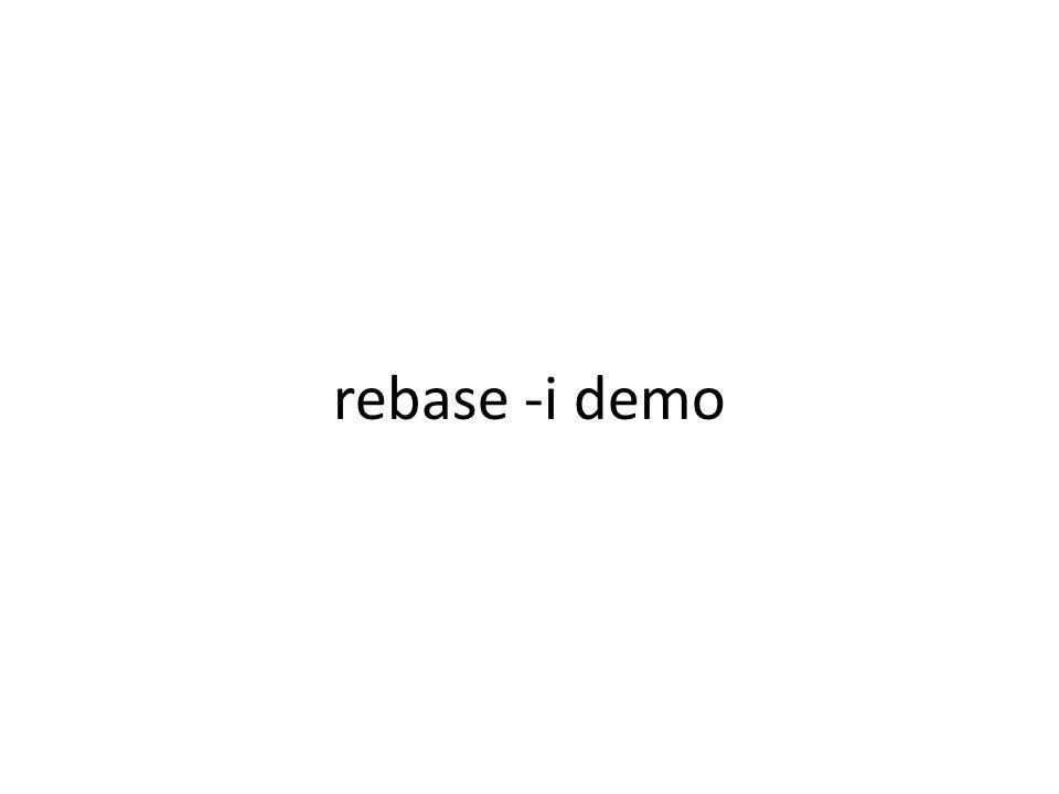 rebase -i demo