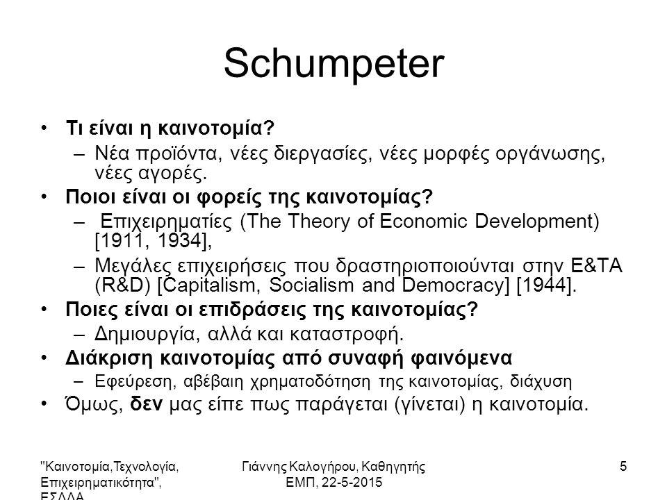 Τι είναι η Καινοτομία: Μερικές χρήσιμες αποσαφηνίσεις Πολυχρησιμοποιημένη λέξη.