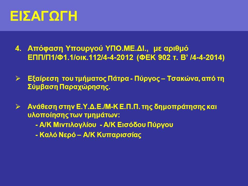 4.Απόφαση Υπουργού ΥΠΟ.ΜΕ.ΔΙ., με αριθμό ΕΠΠ/Π1/Φ1.1/οικ.112/4-4-2012 (ΦΕΚ 902 τ.