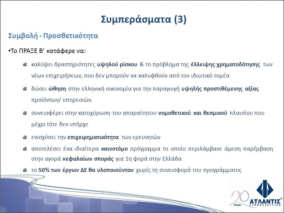 Δημόσιοι Οργανισμοί Παροχής Γνώσης η συντριπτική πλειοψηφία των spin–off συνεχίζουν και μετά τη λήξη του έργου τη συνεργασία τους με τον Δημόσιο Οργανισμό Παραγωγής Γνώσης από τον οποίο προέρχονται.