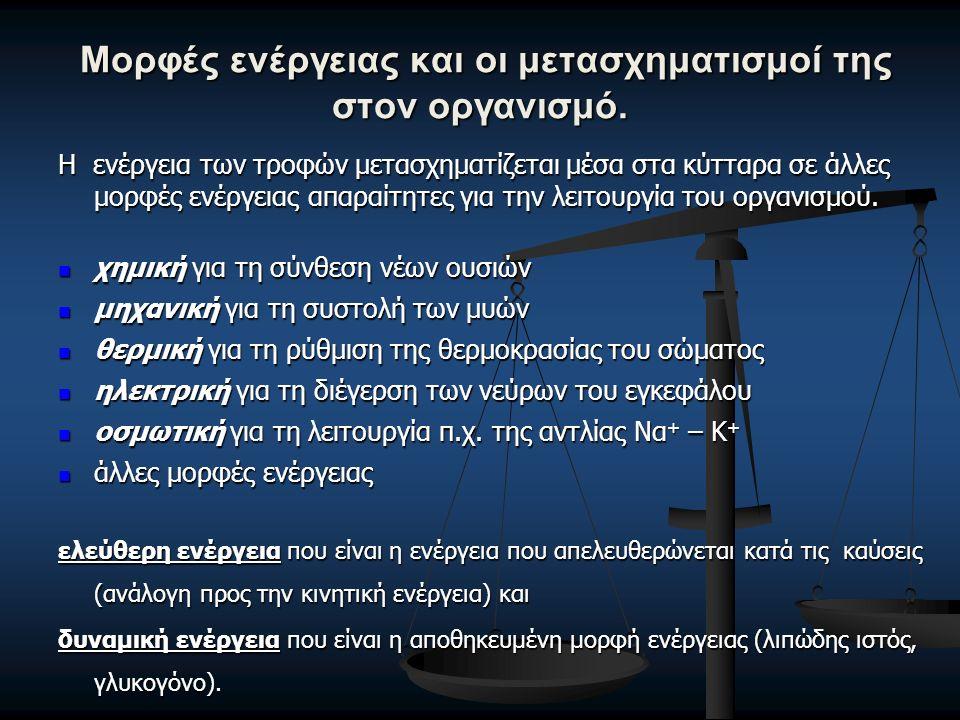 ΕΝΕΡΓΕΙΑΚΟ ΙΣΟΖΥΓΙΟ Ενεργειακή Πρόσληψη / Energy Intake (Ε.Π.) είναι το ποσό της ενέργειας που παίρνει ο οργανισμός με τις τροφές.