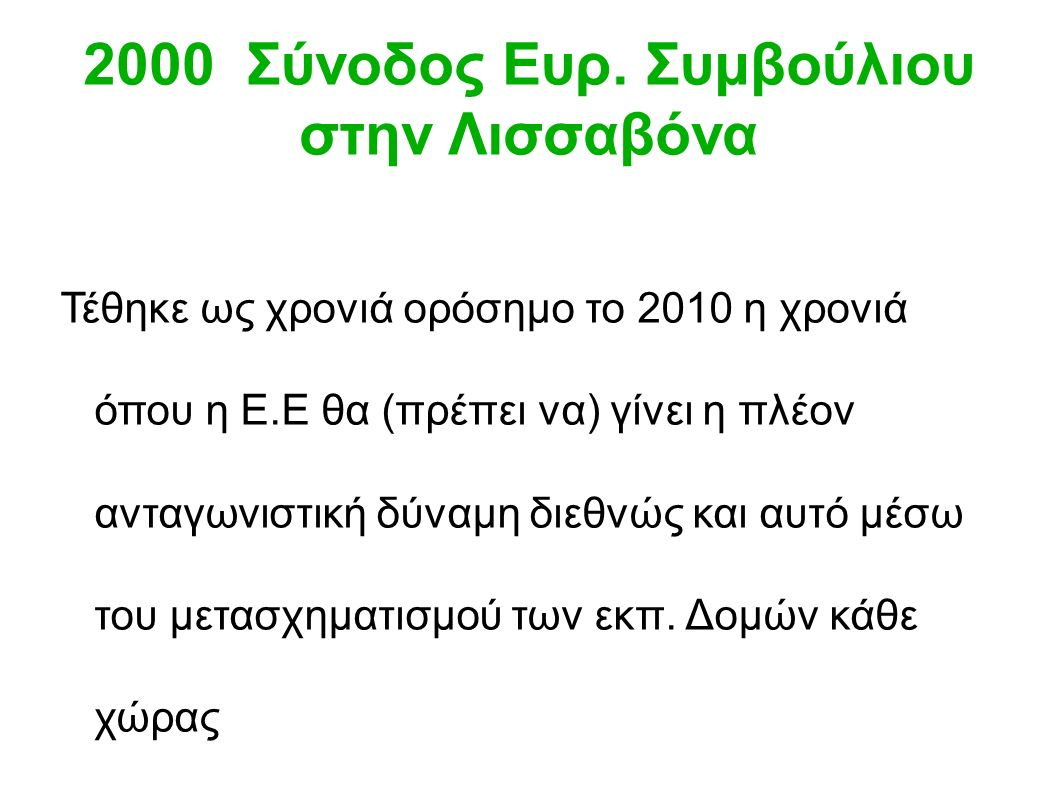 2000 Σύνοδος Ευρ.