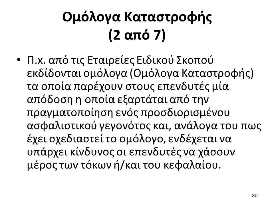 Ομόλογα Καταστροφής (2 από 7) Π.x.
