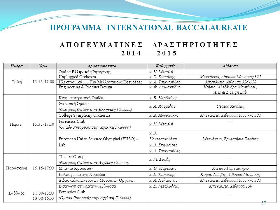 ΗμέραΏραΔραστηριότηταΚαθηγητέςΑίθουσα Τρίτη15:15-17:00 Ομάδα Ελληνικής Ρητορικήςκ.
