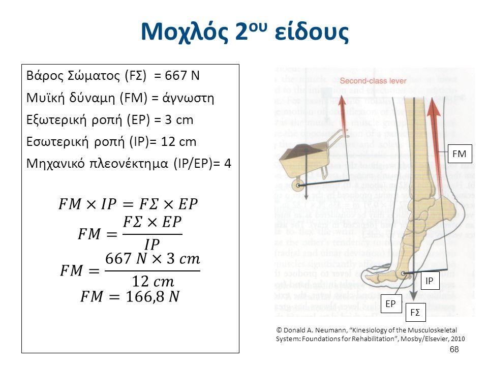 Μοχλός 2 ου είδους FM IP FΣFΣ EP 68 © Donald A.