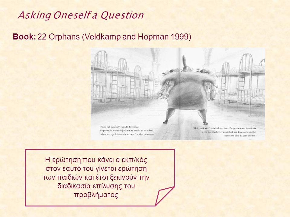 Book: 22 Orphans (Veldkamp and Hopman 1999) Η ερώτηση που κάνει ο εκπ/κός στον εαυτό του γίνεται ερώτηση των παιδιών και έτσι ξεκινούν την διαδικασία επίλυσης του προβλήματος