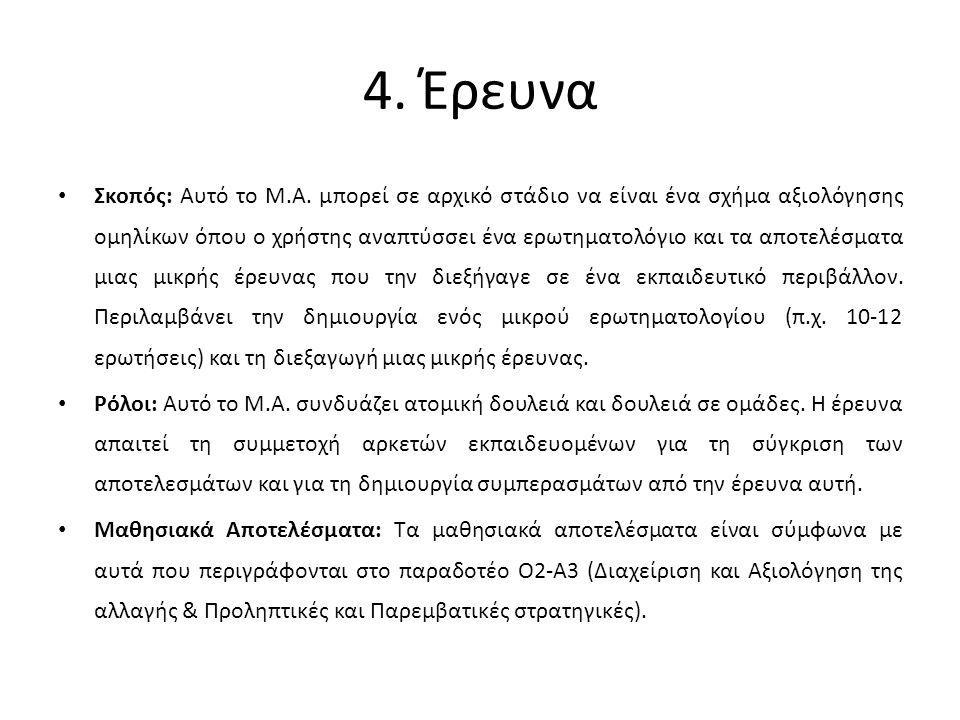4. Έρευνα Σκοπός: Αυτό το Μ.Α.