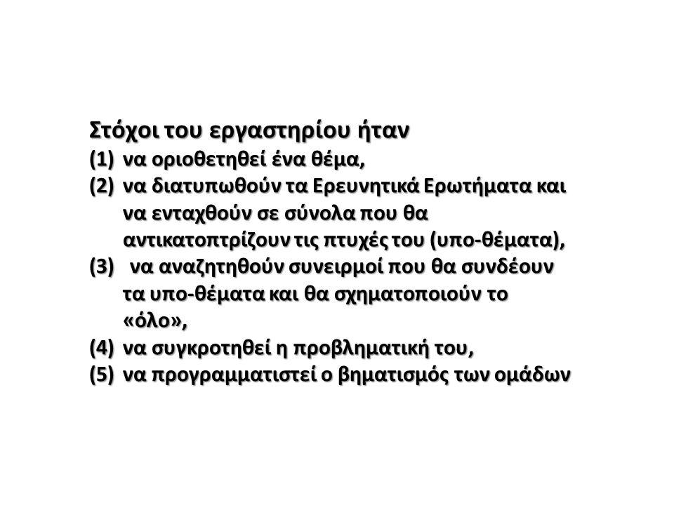 ΘΕΜΑ ΤΗΣ ΕΡΕΥΝΗΤΙΚΗΣ ΕΡΓΑΣΙΑΣ: ……………………..