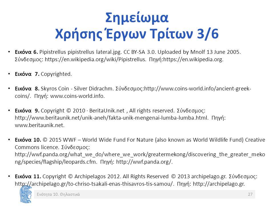 Σημείωμα Χρήσης Έργων Τρίτων 3/6 Εικόνα 6. Pipistrellus pipistrellus lateral.jpg. CC BY-SA 3.0. Uploaded by Mnolf 13 June 2005. Σύνδεσμος: https://en.