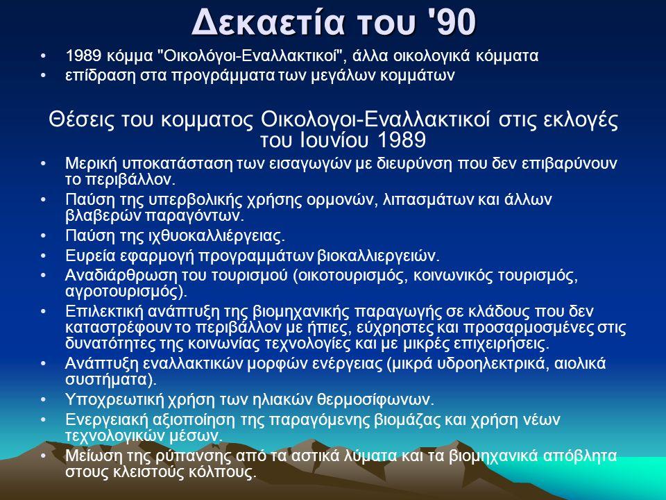 Δεκαετία του '90 1989 κόμμα