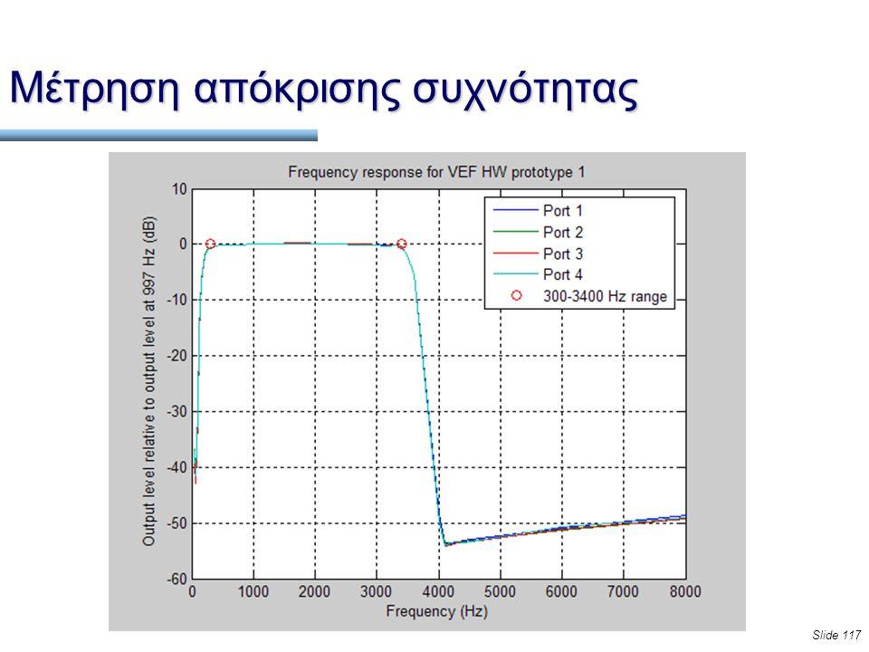 Slide 117 Μέτρηση απόκρισης συχνότητας