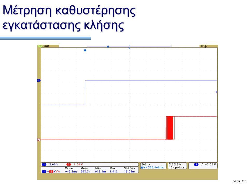 Slide 121 Μέτρηση καθυστέρησης εγκατάστασης κλήσης