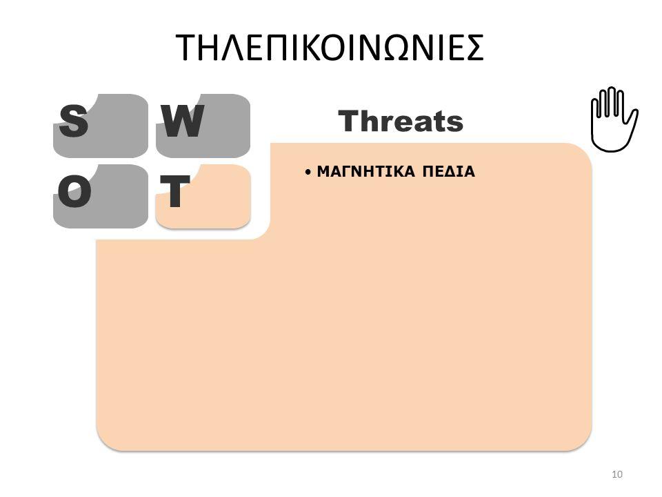 ΤΗΛΕΠΙΚΟΙΝΩΝΙΕΣ SW OT Threats ΜΑΓΝΗΤΙΚΑ ΠΕΔΙΑ 10