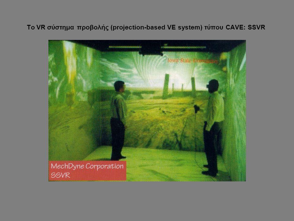 Το VR σύστημα προβολής (projection-based VE system) τύπου CAVE: SSVR