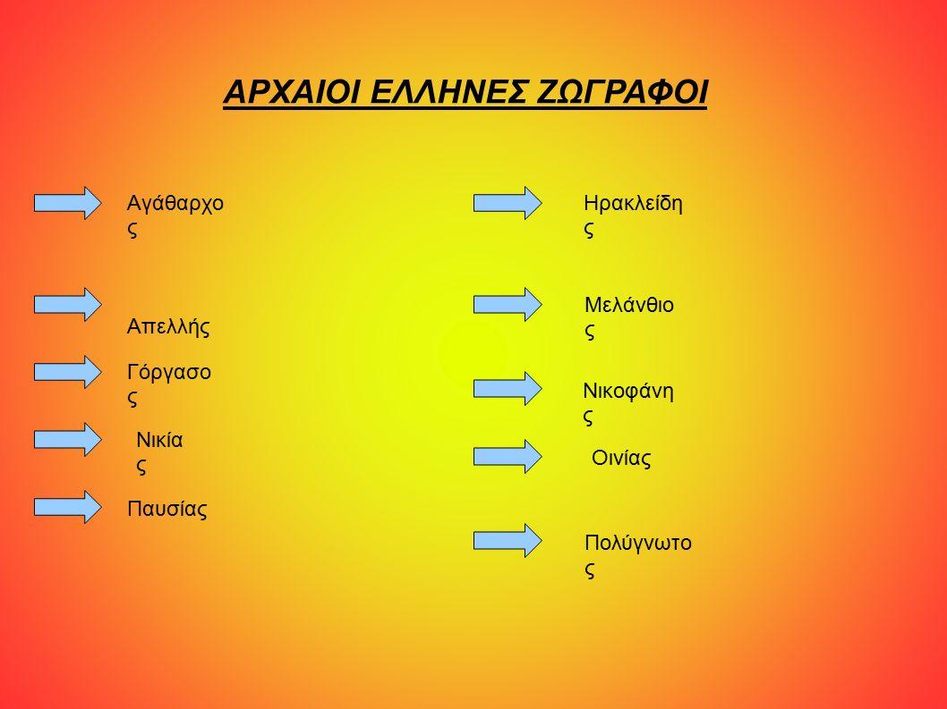Αγάθαρχος Ο Αγάθαρχος ο Σάμιος ήταν περίφημος αρχαίος Έλληνας ζωγράφος από τη Σάμο, που έζησε όμως και σταδιοδρόμησε στην Αθήνα κατά τη διάρκεια του «Χρυσού Αιώνα» (5ος αιώνας π.Χ.).