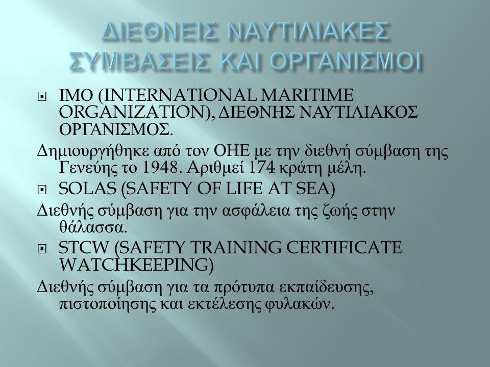  ΙΜΟ (INTERNATIONAL MARITIME ORGANIZATION), ΔΙΕΘΝΗΣ ΝΑΥΤΙΛΙ A ΚΟΣ ΟΡΓΑΝΙΣΜΟΣ.