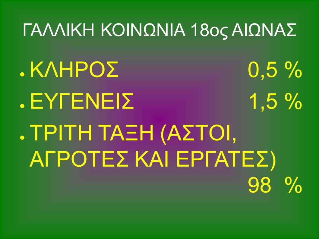 ΤΡΕΙΣ ΤΑΞΕΙΣ ΓΑΛΛΙΚΗΣ ΚΟΙΝΩΝΙΑΣ