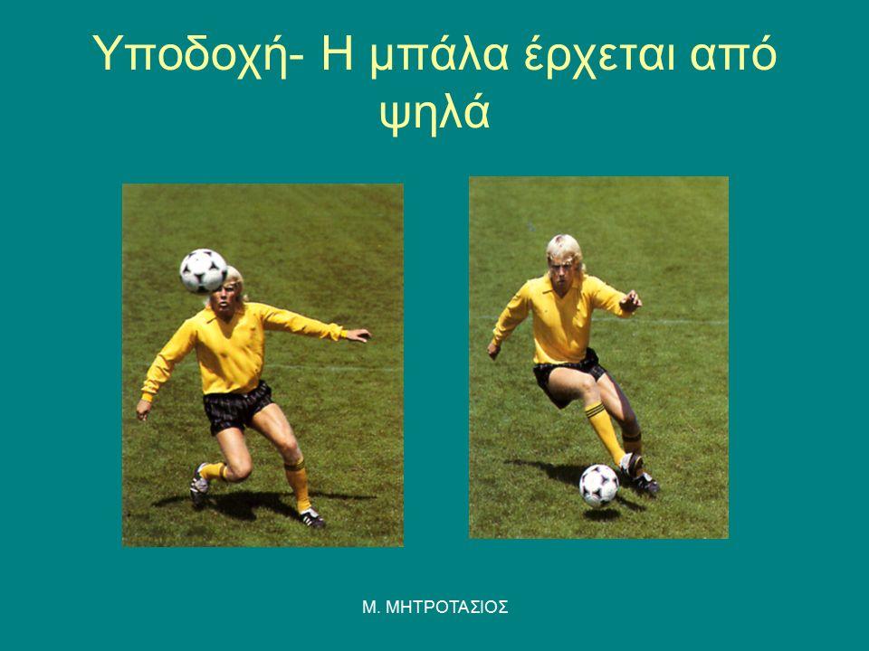 Υποδοχή- Η μπάλα έρχεται από ψηλά Μ. ΜΗΤΡΟΤΑΣΙΟΣ