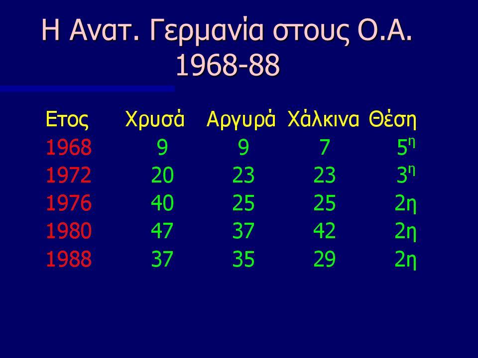 Η Ανατ. Γερμανία στους Ο.Α. 1968-88