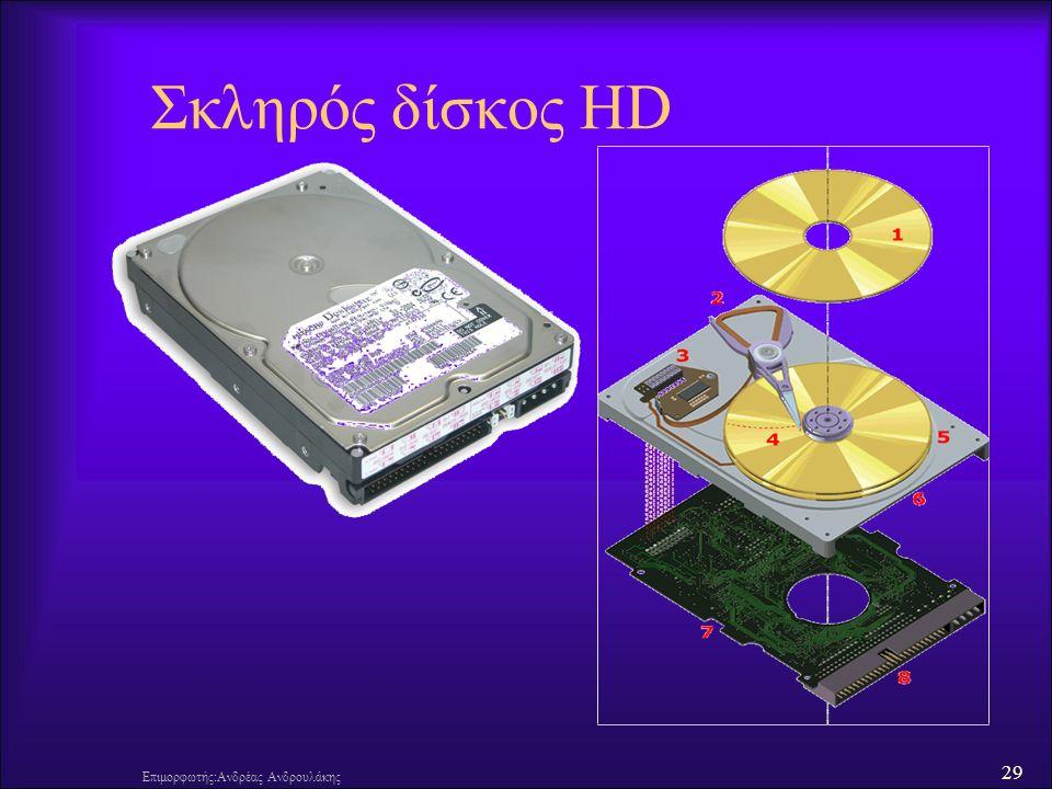 29 Επιμορφωτής:Ανδρέας Ανδρουλάκης Σκληρός δίσκος HD