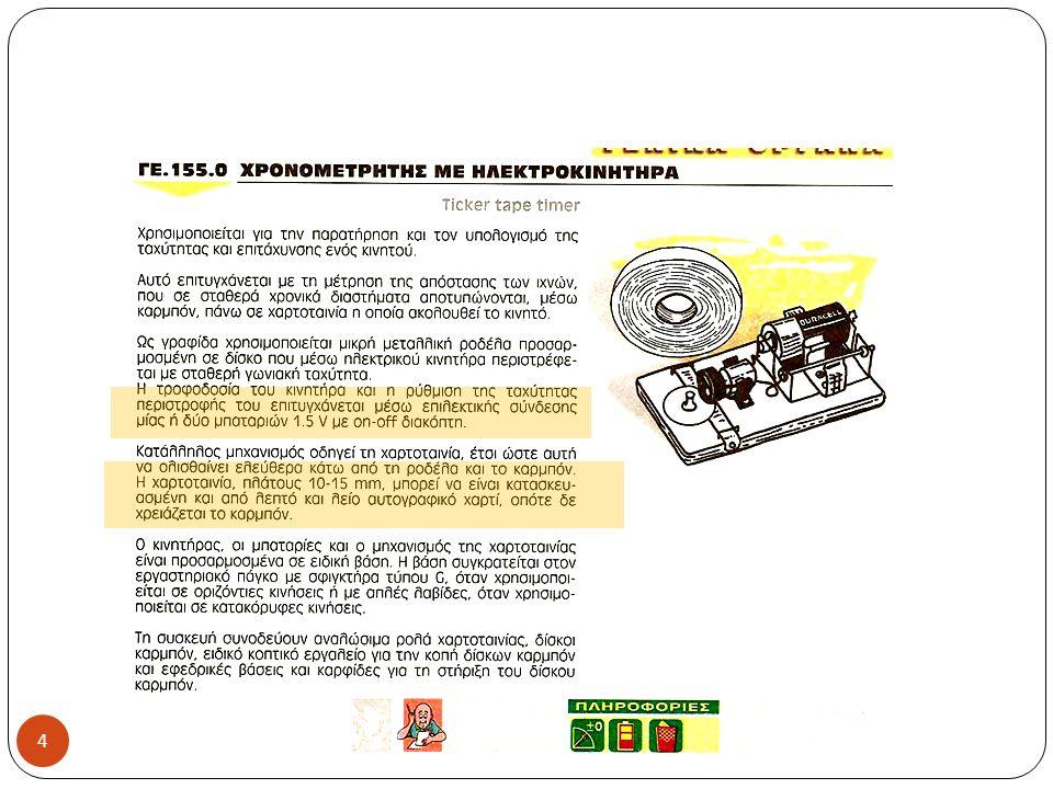 Πειραματική διαδικασία (1 η διάταξη ) ΕΚΦΕ Ιωαννίνων 2012 Στερεώνουμε στην μία άκρη το χρονομετρητή και την τροχαλία στην άλλη άκρη του πάγκου χρησιμοποιώντας του σφιγκτήρες.