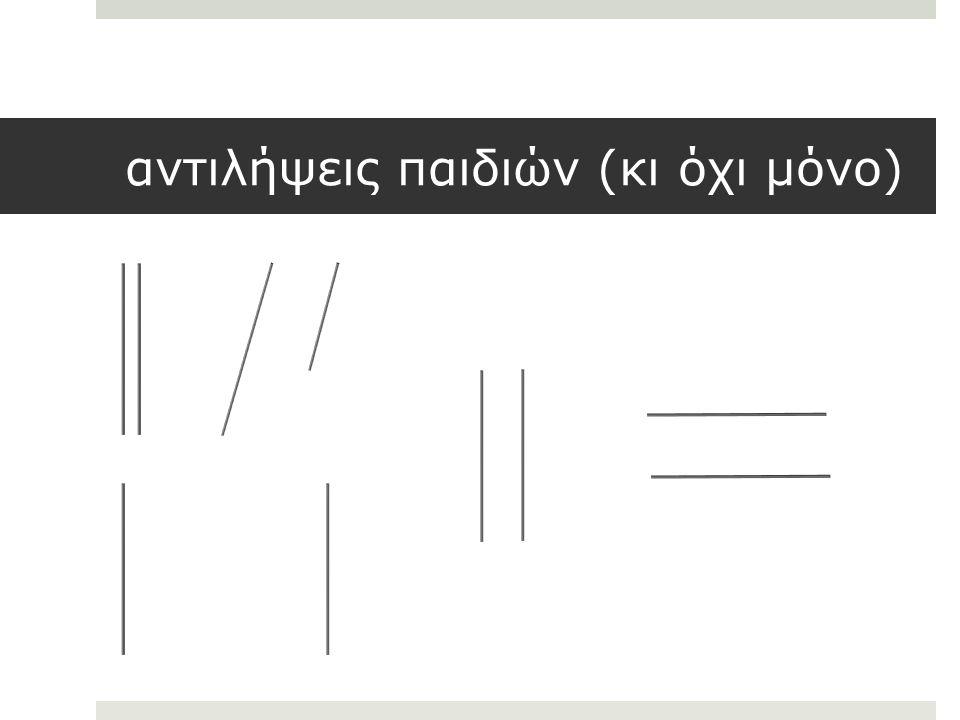 Επίπεδο 1: Οπτικής Αναγνώρισης αντίληψη των γεωμετρικών σχημάτων ως ολότητες ανάλογα με την εμφάνιση τους (το όλο ισχυρότερο από τα μέρη).