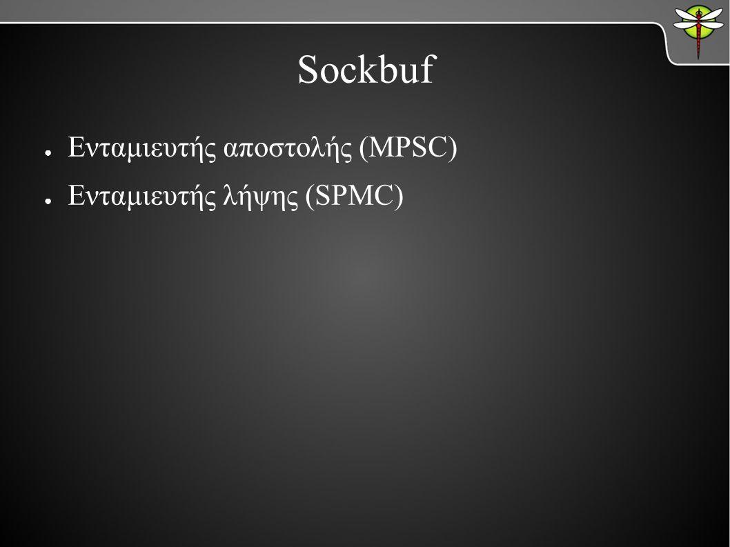 ● Ενταμιευτής αποστολής (MPSC) ● Ενταμιευτής λήψης (SPMC)