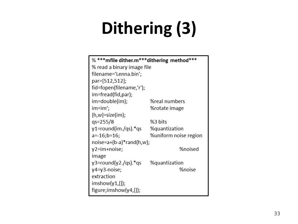 Dithering (3) 33