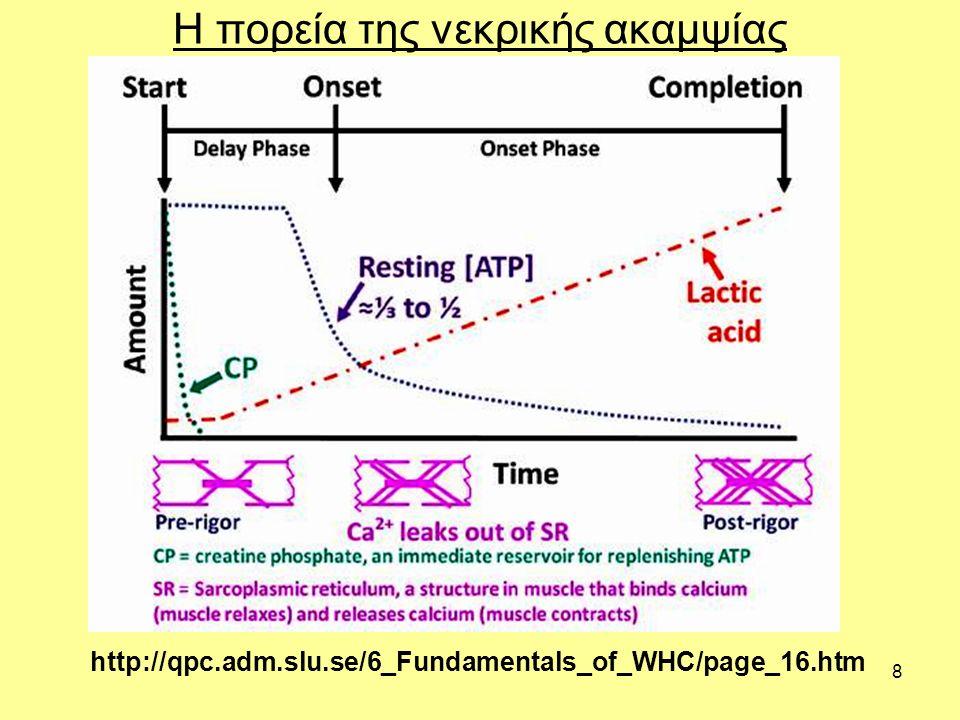 8 Η πορεία της νεκρικής ακαμψίας http://qpc.adm.slu.se/6_Fundamentals_of_WHC/page_16.htm
