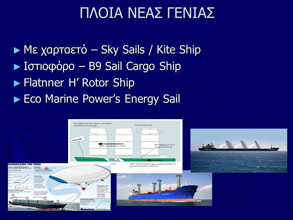 ΠΛΟΙΑ ΝΕΑΣ ΓΕΝΙΑΣ ►Μ►Μ►Μ►Με χαρταετό – Sky Sails / Kite Ship ►Ι►Ι►Ι►Ιστιοφόρο – B9 Sail Cargo Ship ►F►F►F►Flatnner Η' Rotor Ship ►E►E►E►Eco Marine Pow