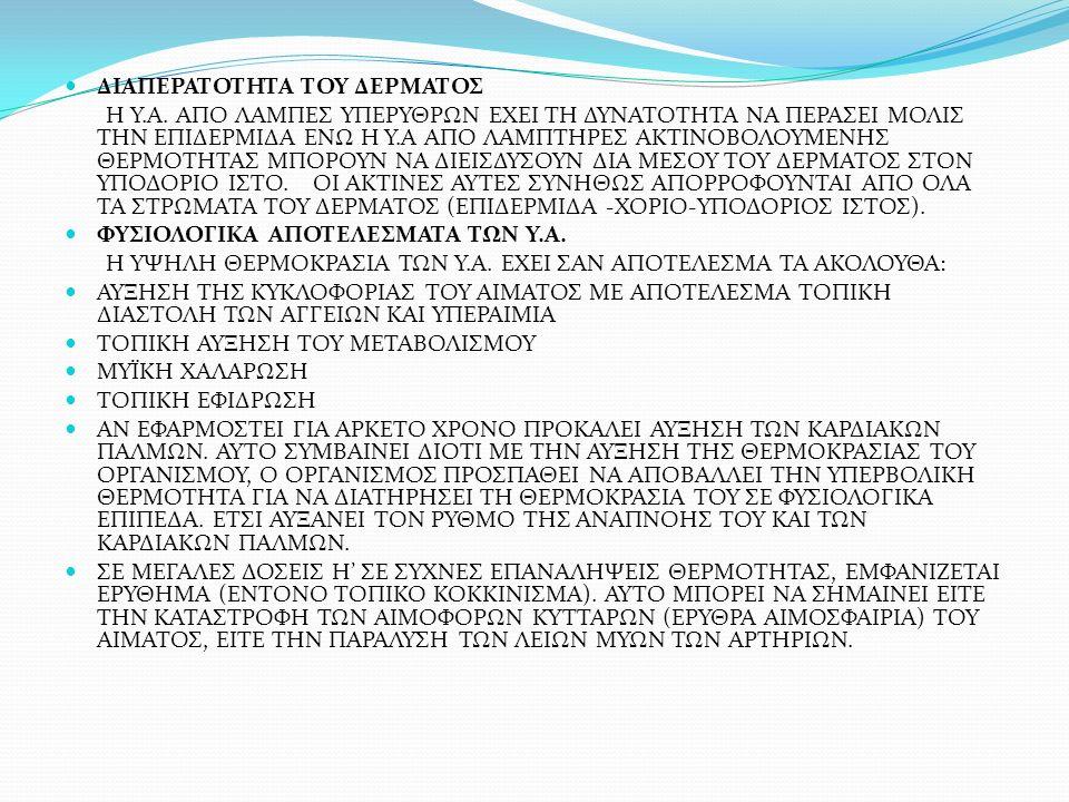 ΕΝΔΕΙΞΕΙΣ ΕΝΔΕΙΚΝΥΝΤΑΙ ΠΡΙΝ ΤΗΝ ΧΡΗΣΗ ΚΑΘΕ ΜΟΡΦΗΣ ΗΛΕΚΤΡΟΘΕΡΑΠΕΙΑΣ (ΓΑΛΒΑΝΙΚΟ, ΦΑΡΑΔΙΚΟ, ΠΑΡΕΜΒΑΛΛΟΜΕΝΟ) ΑΝΤΕΝΔΕΙΞΕΙΣ ΣΕ ΟΞΕΙΣ ΤΡΑΥΜΑΤΙΣΜΟΥΣ ΚΑΙ ΦΛΕΓΜΟΝΕΣ ΣΕ ΠΕΡΙΟΧΕΣ ΜΕ ΜΩΛΩΠΕΣ ΣΕ ΑΤΟΜΑ ΑΛΛΕΡΓΙΚΑ ΣΤΗΝ ΠΑΡΑΦΙΝΗ