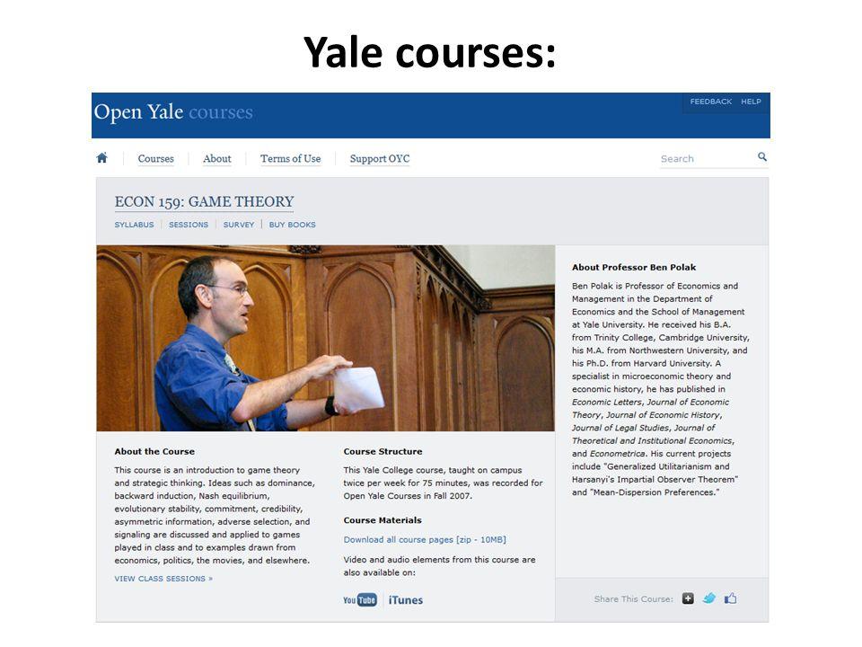 Yale courses: