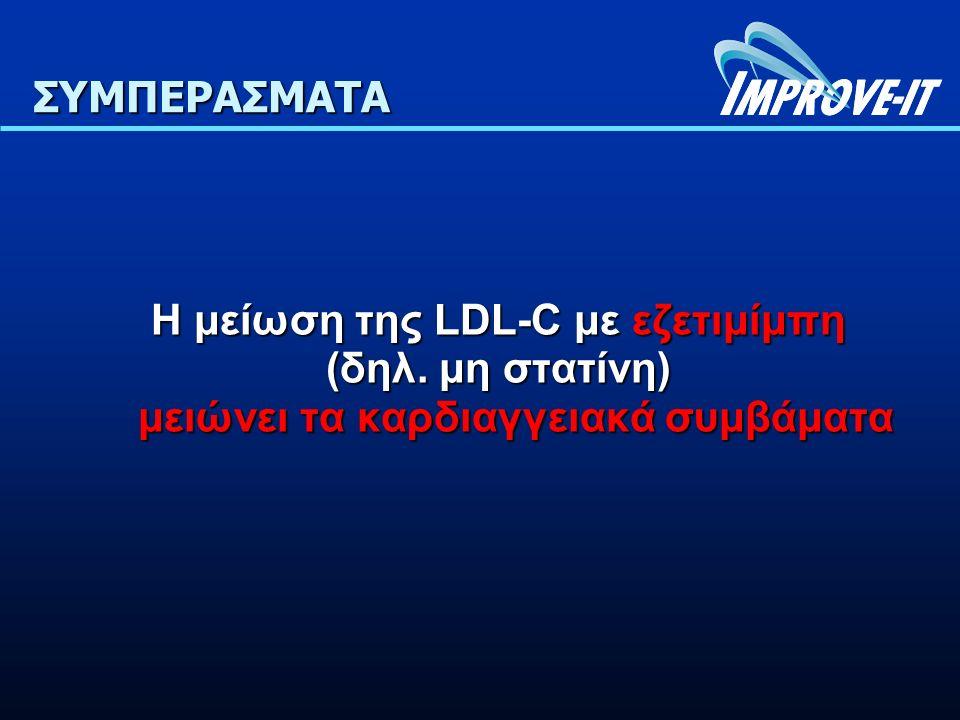 ΣΥΜΠΕΡΑΣΜΑΤΑ Η μείωση της LDL-C με εζετιμίμπη (δηλ.
