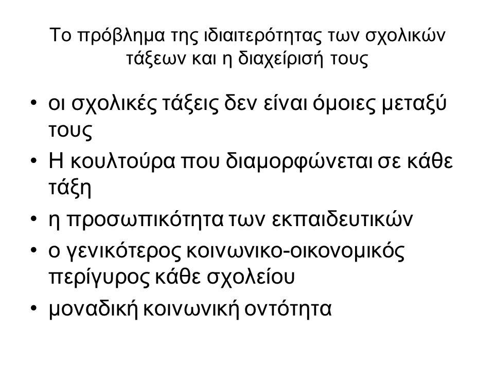 Τα μοντέλα δημοκρατικής παρέμβασης α) του Kounin β) του Glasser, γ) του Dreikurs και δ) του Webster.