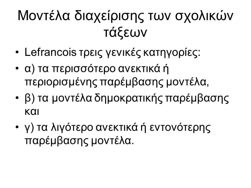 Διατήρηση του κανονικού ρυθμού του μαθήματος Ομαλή μετάβαση από τη μια φάση στην άλλη (smoothness), από τη θεωρία π.χ.