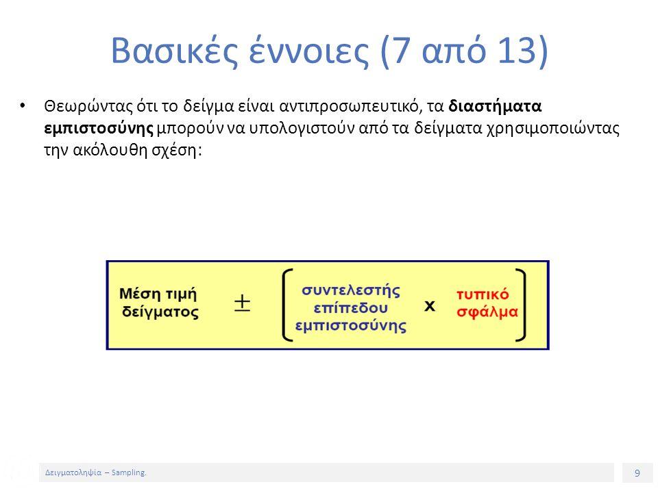9 Δειγματοληψία – Sampling.