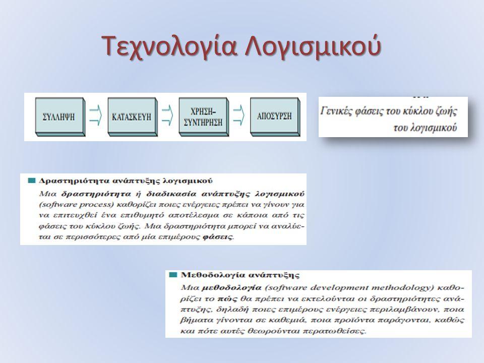 Τεχνολογία Λογισμικού