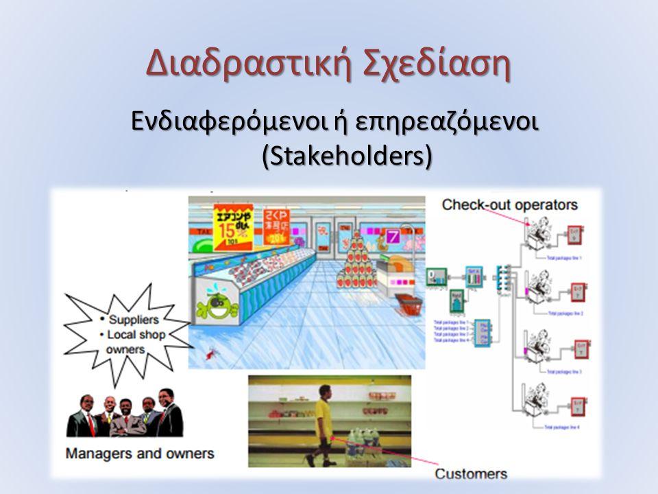Διαδραστική Σχεδίαση Ενδιαφερόµενοι ή επηρεαζόµενοι (Stakeholders)