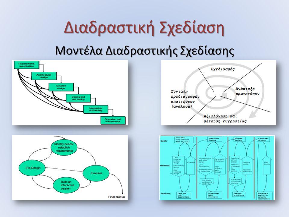 Διαδραστική Σχεδίαση Μοντέλα Διαδραστικής Σχεδίασης