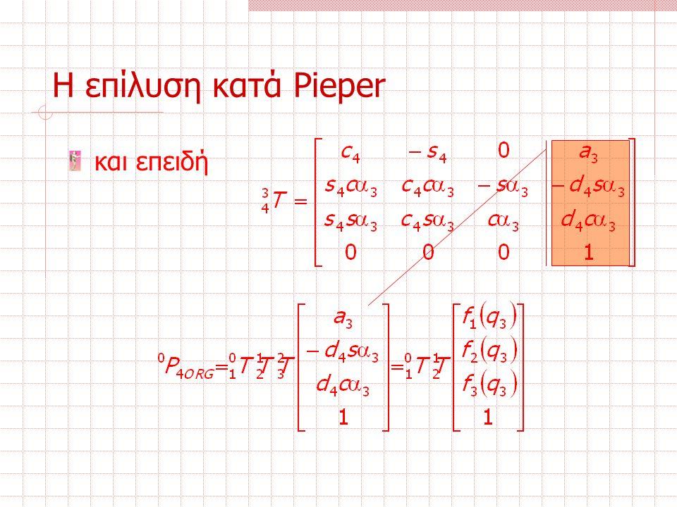 Η επίλυση κατά Pieper και επειδή