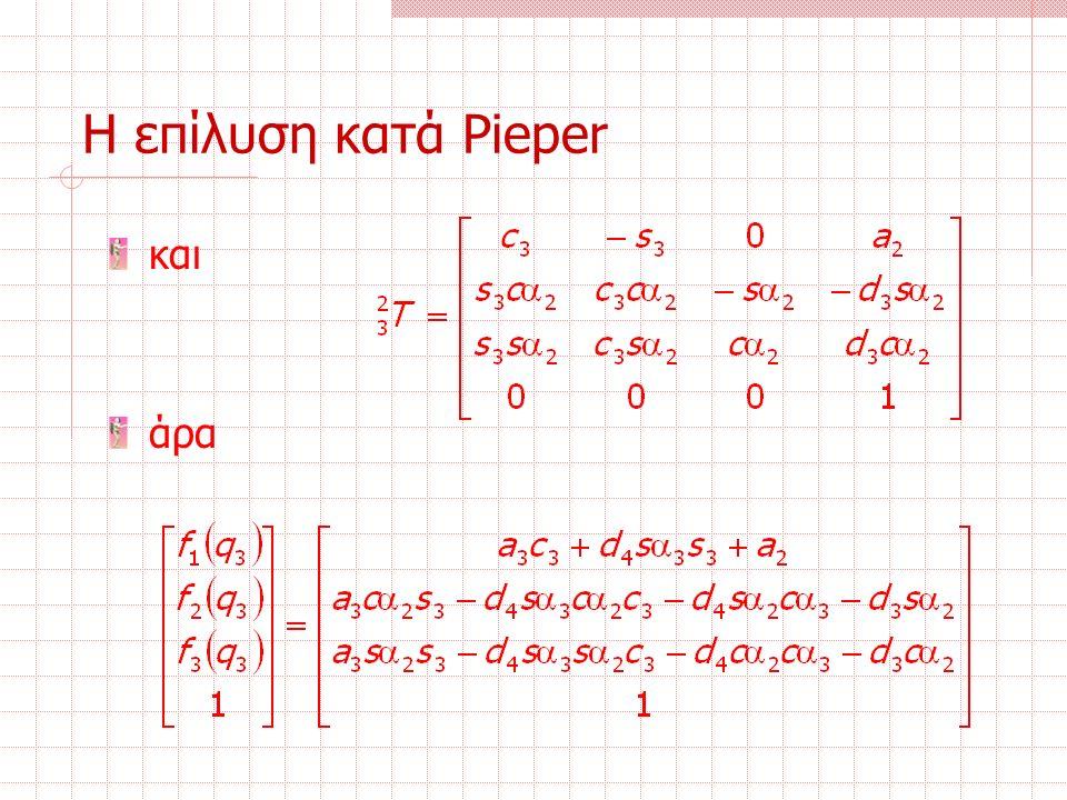 Η επίλυση κατά Pieper και άρα