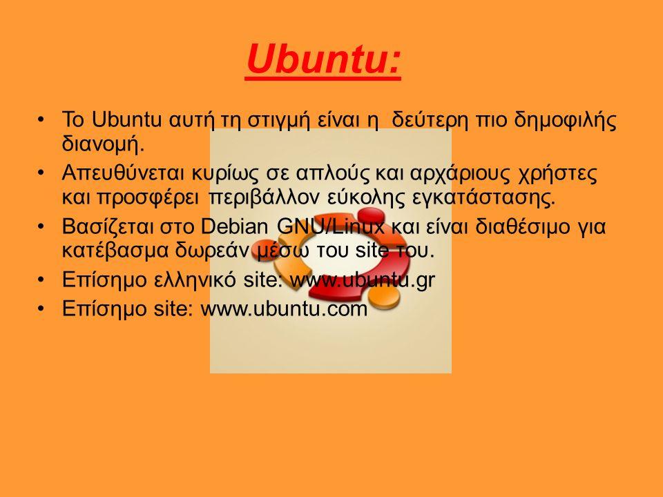 Ubuntu: To Ubuntu αυτή τη στιγμή είναι η δεύτερη πιο δημοφιλής διανομή.