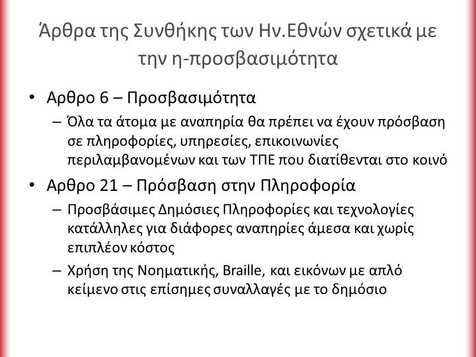 Χρήση χρώματος το κείμενο και τα γραφικά να είναι κατανοητά όταν παρουσιάζονται χωρίς χρώμα ικανή αντίθεση ανάμεσα στα χρώματα (background – foreground)
