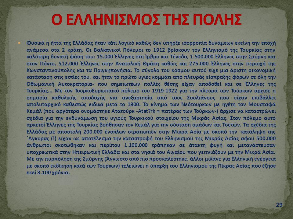 Φυσικά η ήττα της Ελλάδας ήταν κάτι λογικό καθώς δεν υπήρξε ισορροπία δυνάμεων εκείνη την εποχή ανάμεσα στα 2 κράτη. Οι Βαλκανικοί Πόλεμοι το 1912 βρί