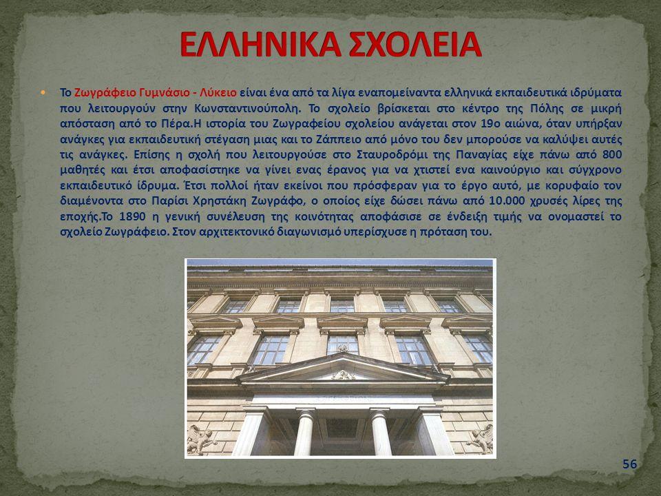 Το Ζωγράφειο Γυμνάσιο - Λύκειο είναι ένα από τα λίγα εναπομείναντα ελληνικά εκπαιδευτικά ιδρύματα που λειτουργούν στην Κωνσταντινούπολη.
